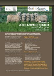 Making mixed farming systems work for you - Birchip Cropping Group