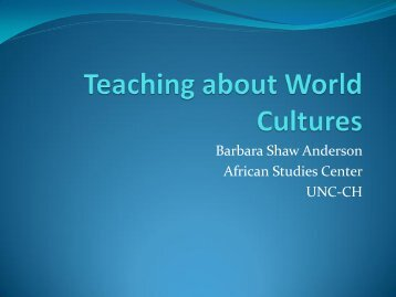 Teaching about World Cultures - World View