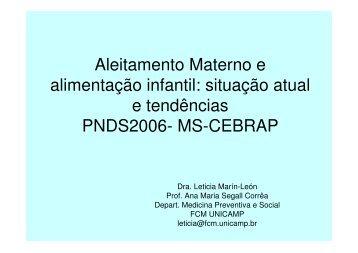 situação atual e tendências PNDS2006- MS-CEBRAP - Epi2008