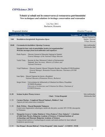 Programul complet - Ministerul Culturii