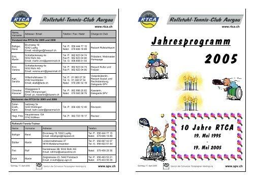 Jahresprogramm 2005 - RTCA