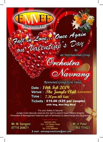 Valentines Day information leaflet