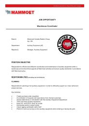 JOB OPPORTUNITY Warehouse Coordinator POSITION OBJECTIVE