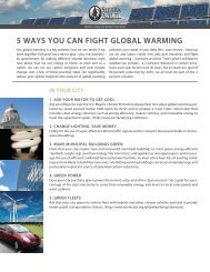 5 WAYS YOU CAN FIGHT GLOBAL WARMING - NC Project Green
