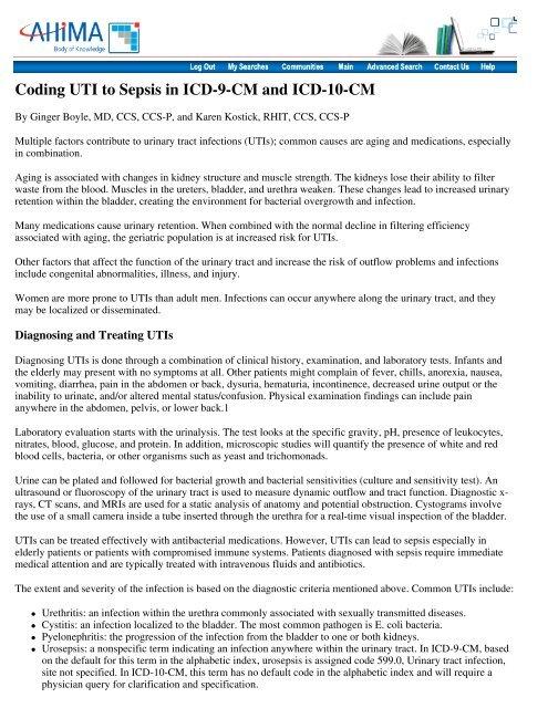Cystitis akut ICD kód