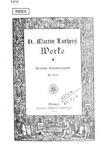 Reihenpredigten über Johannes 16 (1533/34 ... - Maarten Luther