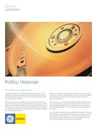 GE Fanuc Proficy Historian brochure - Trans-Market Process Systems