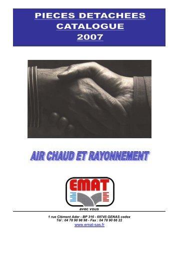 gamme air chaud et rayonnement - EMAT