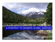 Jun 2008 - Colorado Climate Action Plan