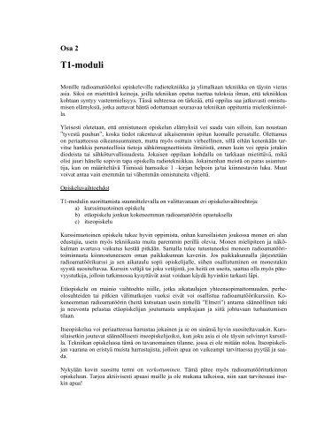 Opiskelun opas, osa 2 T1-moduuli - Sral