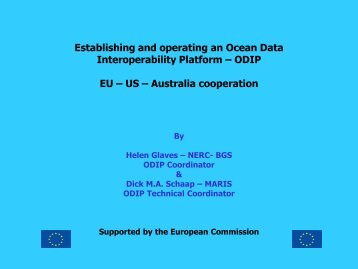 ODIP : collaboration with USA and Australia (MARIS - D. Schaap)