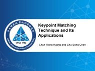 Keypoint Matching Technique and Its Applications