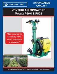 venturi air sprayers models p50n & p50s affordable quality