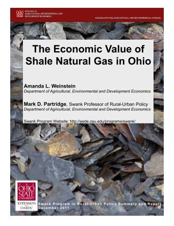 The Economic Value of Shale Natural Gas in Ohio - Subsurface ...