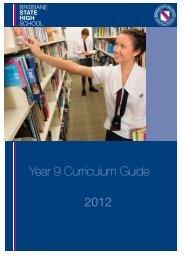 2012 Year 9 Curriculum Guide - Brisbane State High School