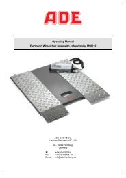 Operating Manual Electronic Wheelchair Scale with cable ... - Dencor