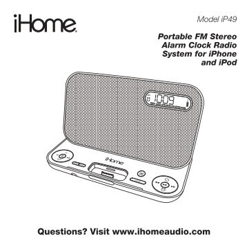 ihome ip9 manual ebook