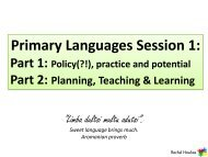 Primary Languages Session 1 - 2011 - Rachel Hawkes