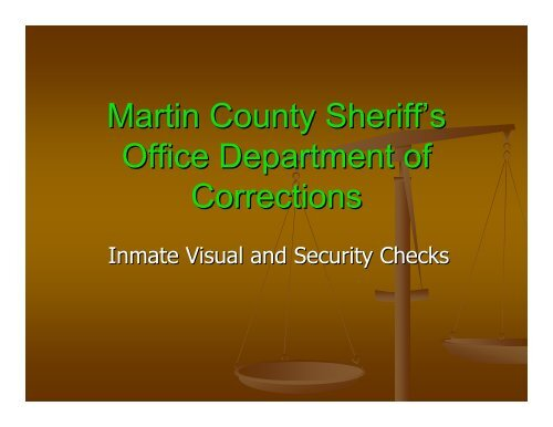 Inmate Visual and Security Checks.pdf - Martin County, Florida