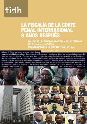 La Fiscalía De La Corte Penal Internacional 9 Años Después - INDH