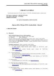 smlouva o dílo - SŽDC