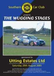 Wugging Stages 2005 - Southern Car Club