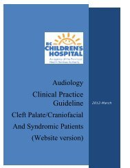 Cleft Palate, Craniofacial Syndromic Clinical Practice Guideline