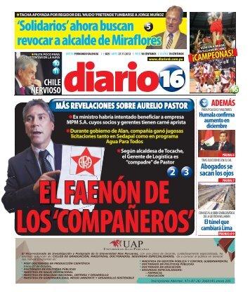 'Solidarios' ahora buscan revocar a alcalde de Miraflores - Diario16