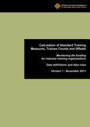Standard Training Measure - Tertiary Education Commission