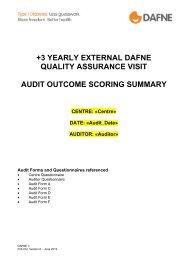 Audit Outcome Scoring Summary (June 2012). - Dafne