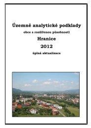 Územně - analytické podklady ORP Hranice 2012