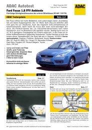 Ford Focus 1.8 FFV Ambiente - ADAC