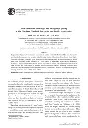 Vocal sequential exchanges and intragroup spacing in the ... - SciELO