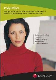 7C54-plaquette polyOffice.indd - LexisNexis