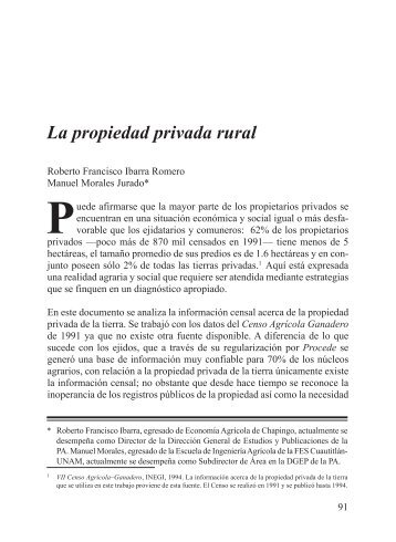 La propiedad privada rural - Procuraduría Agraria