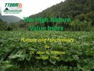 The High Nature Value Index - IUCN Portals