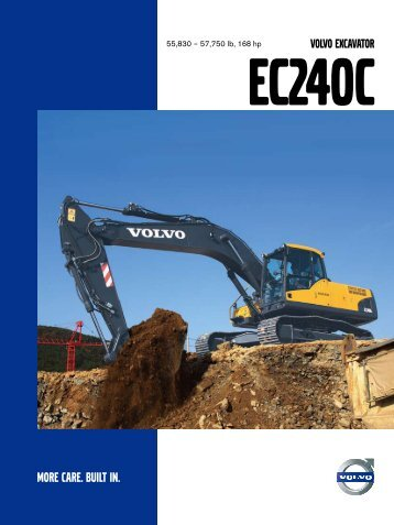 Ec240c VolVo ExcaVator - Martelco Equipment Hire