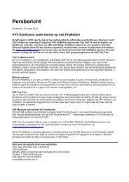 Persbericht VVV ProMobiel & DAF City Tour - VVV Eindhoven