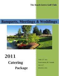 Banquets, Meetings & Weddings Catering - Beach Grove Golf Club