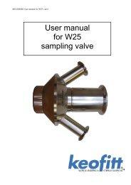 User manual for W25 sampling valve - Fagerberg