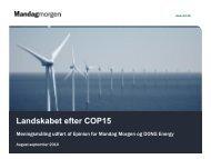 Meningsmåling - Landskabet efter COP15 - Mandag Morgen
