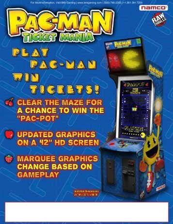 Pac Man Ticket Mania Video Redemption Arcade ... - BMI Gaming
