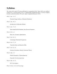 Syllabus for 2009 - Department of Chemistry, Wayne State University