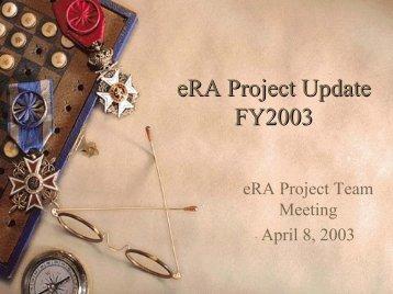 eRA Project Funding