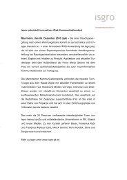 Isgro entwickelt innovatives iPad-Kommunikationstool Mannheim ...