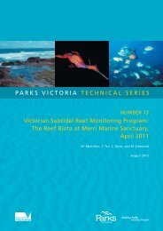 Victorian Subtidal Reef Monitoring Program - Parks Victoria