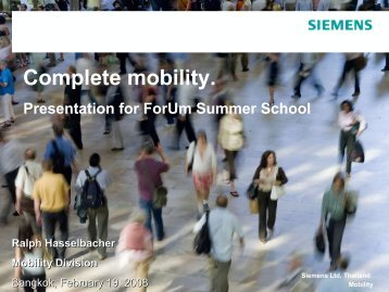 Complete mobility - Forum for Urban Future in Southeast Asia