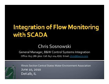 Integration of Flow Monitoring with SCADA - Central States Water ...