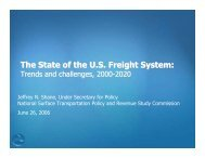 The State of the U.S. Freight System: - National Surface ...