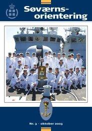 Søværnsorientering nr. 3 / 2003 - Marinehistorisk Selskab og ...